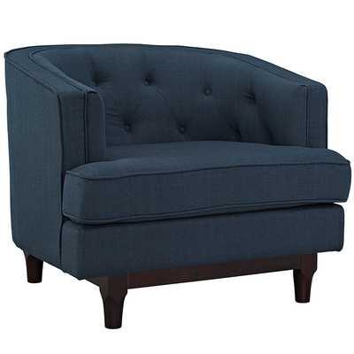 COAST ARMCHAIR IN AZURE - Modway Furniture