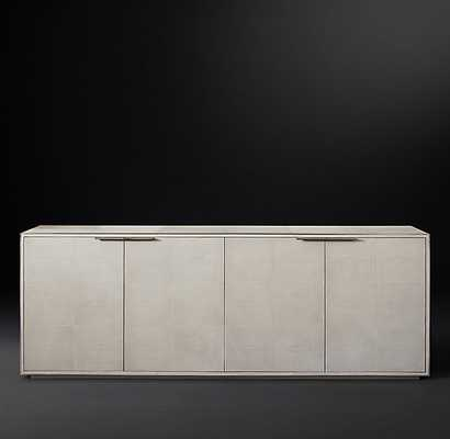 SMYTHSON SHAGREEN PANEL 4-DOOR SIDEBOARD - RH