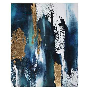 Bleu Et Sarcelle - 40''W x 50''H - Unframed - Z Gallerie