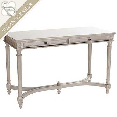 Suzanne Kasler French Writing Desk - Dark Graywash - Ballard Designs