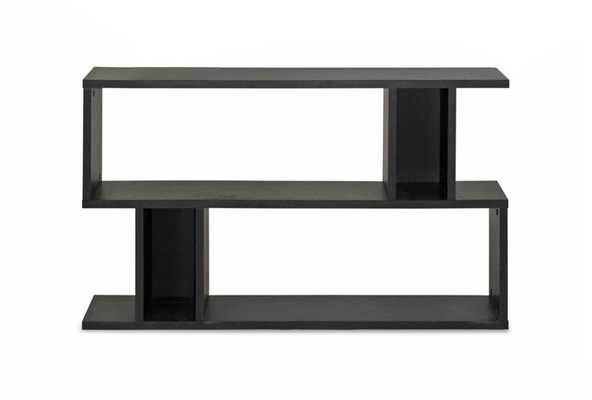Baxton Studio Goodwin 2 Level Dark Brown Modern Bookshelf - Lark Interiors