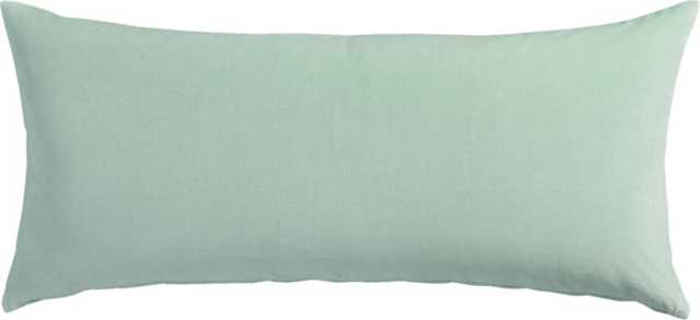 "Leisure mint 16""x36"" pillow with down-alternative insert - CB2"