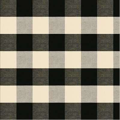 Buffalo Check Black Fabric by the Yard - Ballard Designs
