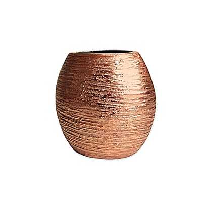 Simplydesignz 7-Inch Metallic Vase in Copper - Bed Bath & Beyond