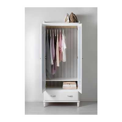 TYSSEDAL Wardrobe, white, mirror glass - Ikea
