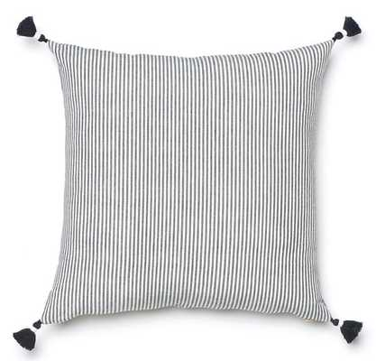 BLACK FRENCH STRIPE PILLOW 20 x 20 - Caitlin Wilson