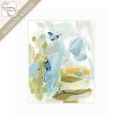 "Suzanne Kasler Reflecting Abstract Framed Art - Print II - 22"" x 26"" - Ballard Designs"