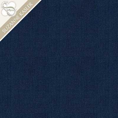 Suzanne Kasler Signature 13oz Linen Indigo Fabric - Ballard Designs