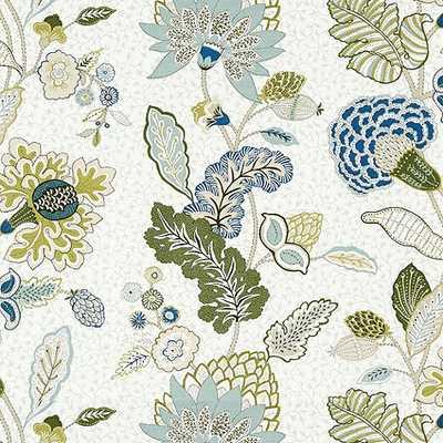 Addison Blue Fabric by the Yard - Ballard Designs