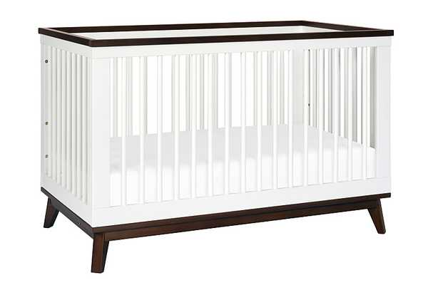 3-in-1 Convertible Crib with Toddler Bed Conversion Kit - White with Walnut - Babyletto
