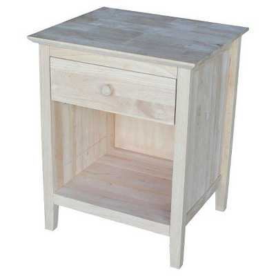Night Stand Unfinished - International Concepts - Target
