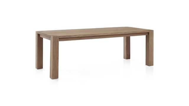 """Big Sur Smoke 90.5"""" Dining Table - Crate and Barrel"""