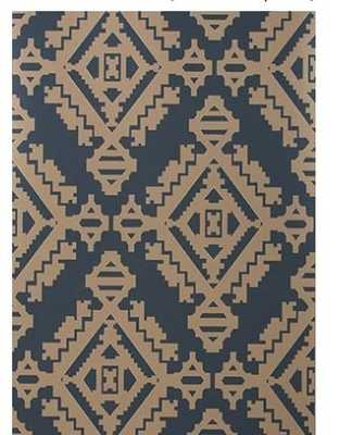NAVAJO - INDIGO wallpaper - Walnut Wallpaper
