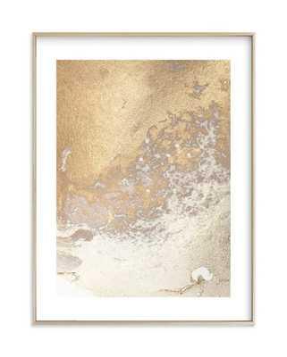 "Aurum sand no. 3 Art Print - 16"" x 20"" - Matte Brass Frame - White Border - Minted"
