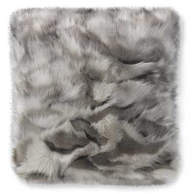 Faux Fur Pillow Cover, Gray Fox - Williams Sonoma Home