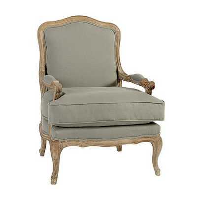 Louisa Bergere Chair - Gray Flaxen - Ballard Designs