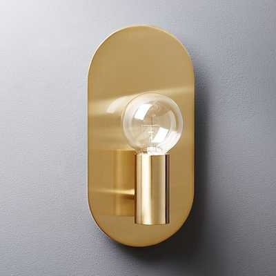plate brass wall sconce - CB2