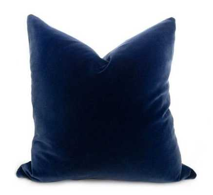 Cotton Velvet Pillow Cover - Midnight Navy, 18x18 - Willa Skye