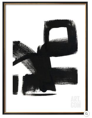 "UNTITLED 1C - 24"" x 32"" COVENTRY Black Thin - Width 0.75"" - art.com"