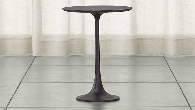 Nero Black Accent Table - Crate and Barrel