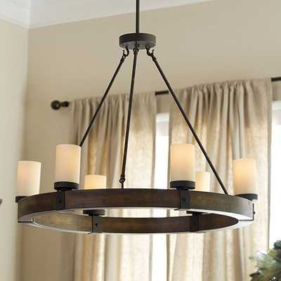 Arturo 6-Light Round Chandelier, Wood - Ballard Designs