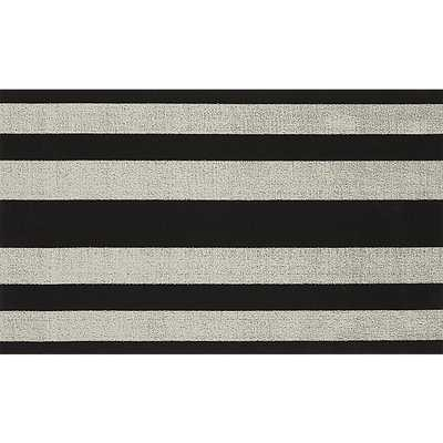 chilewich ® black and white mat - CB2