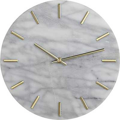 Carlo Marble and Brass Wall Clock - CB2
