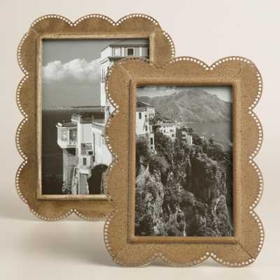 "Zinc Metal Scalloped Frame - 4"" x 6"" - World Market/Cost Plus"