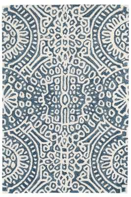 TEMPLE INK WOOL MICRO HOOKED RUG - 2' x 3' - Dash and Albert