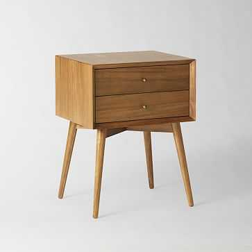 Mid-Century Nightstand , Acorn (White Glove Delivery) - West Elm