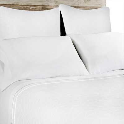 OSLO Coverlet - WHITE - KING - Pom Pom at Home