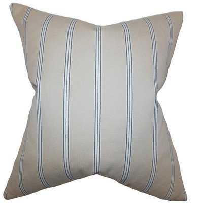 Drusilla Stripes Pillow Natural - 18x18 - Poly Insert - Linen & Seam