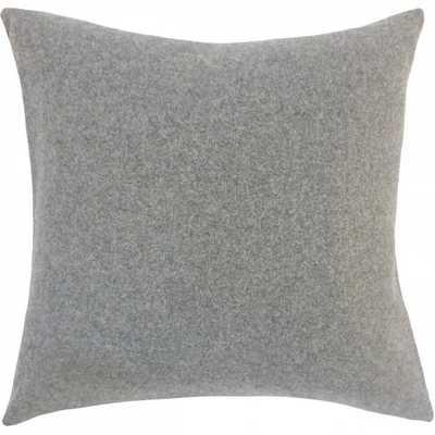 "Eire Solid Pillow Grey - 26"" x 26"" - Linen & Seam"