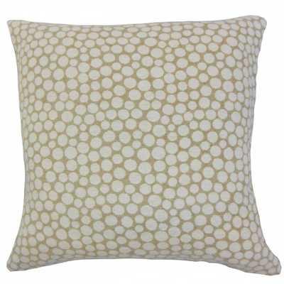 """Elif Polka Dot Pillow - 20"""" x 20"""" - Down insert - Linen & Seam"""