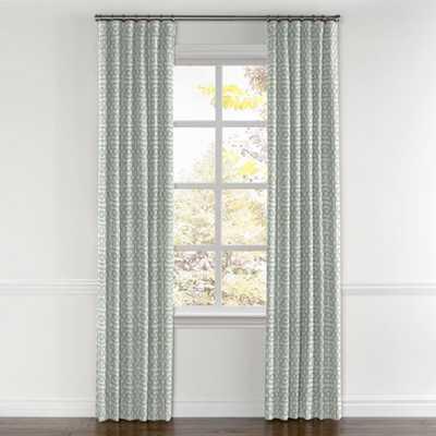 Convertible Drapery- Sunbrella Fretwork, Mist- 50x96, Unlined - Loom Decor