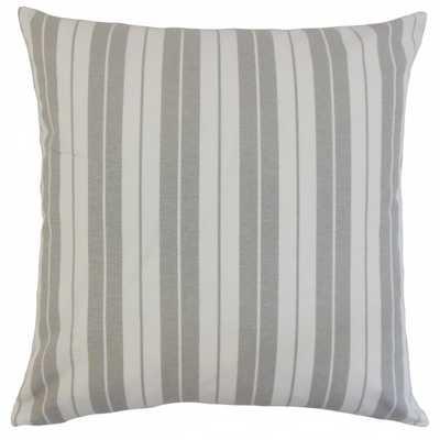 "Henley Stripes Pillow Slate - 18"" x 18"" - Insert included - Linen & Seam"