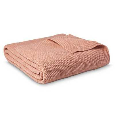 Threshold™ Sweater Knit Blanket - Coral View - King - Target