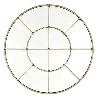 "Grand Palais 36"" Round Mirror - Antique silver - Ballard Designs"