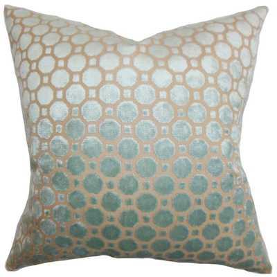 "Kostya Geometric Pillow - 22"" x 22"" Polyester Insert - Linen & Seam"