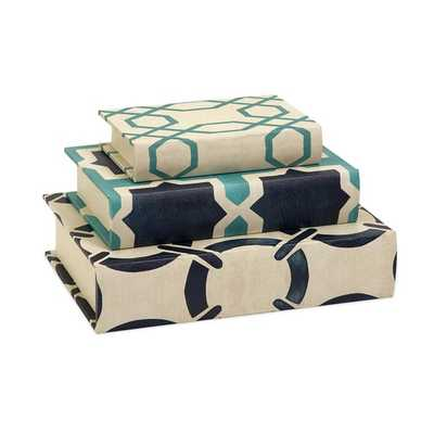 Hadley Book Boxes - Set of 3 - Mercer Collection