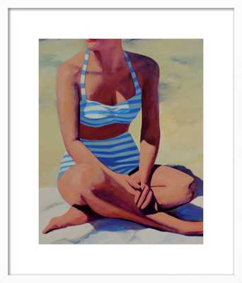 Sunny Beach Day by T. S. Harris - 16x20 - White Frame - Artfully Walls