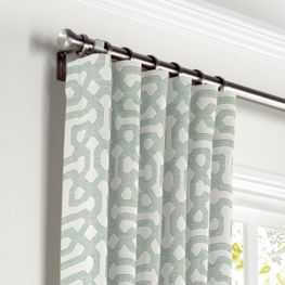 Pale Seafoam Trellis Curtains with Pocket- Pair of 2- 60x102- Unlined- No Trim - Loom Decor