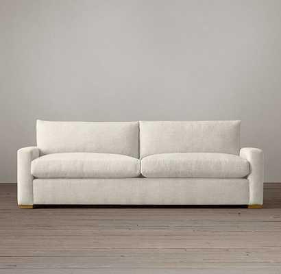 Petite Maxwell Upholstered Sofa 6' Standard Belgian Linen White - RH