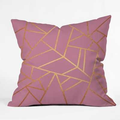 """COPPER AND PINK Throw Pillow - 18"""" x 18"""" - Polyester fill insert - Wander Print Co."""