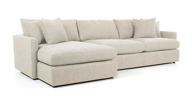 Lounge II 2-Piece Sectional Sofa - PEARL - Crate and Barrel