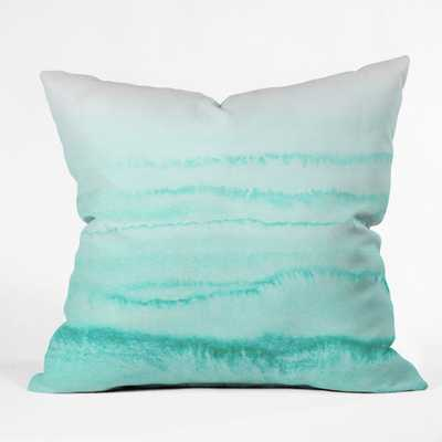 WITHIN THE TIDES CARIBEAN SEA Throw Pillow - 18x18 With insert - Wander Print Co.