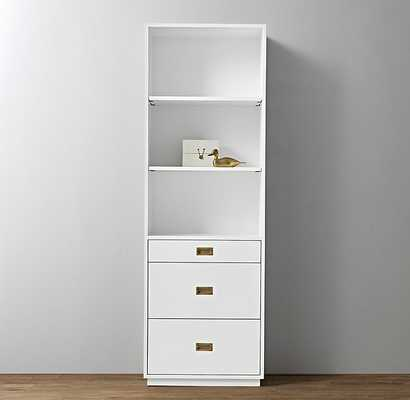 AVALON BOOKCASE TOWER -Waxed White - RH Teen