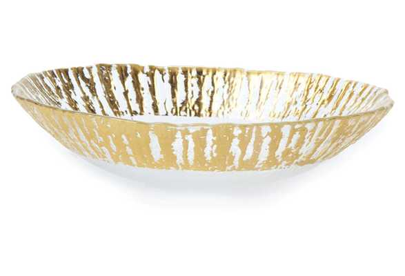 Medium Rufolo Oval Glass Bowl, Gold - One Kings Lane