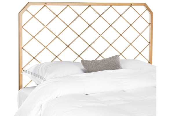 Queen Stitch Headboard, Antiqued Gold - One Kings Lane