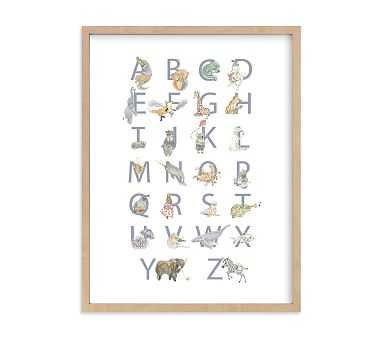 The Animalphabet Wall Art by Minted(R) 30x40, Natural - Pottery Barn Kids
